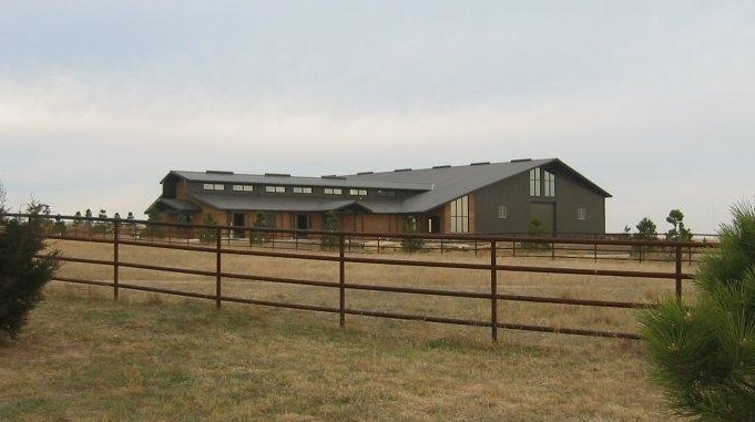 equestrian metal building